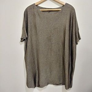 Eileen Fisher brown gold blouse